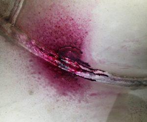 Retort Vessel- Dye Penetrant crack testing